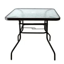 outdoor patio table patio tempered glass patio dining tables with umbrella hole perfect garden deck r camping tables pricecheck sa