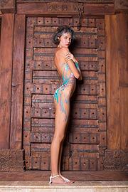 naked girls body paint