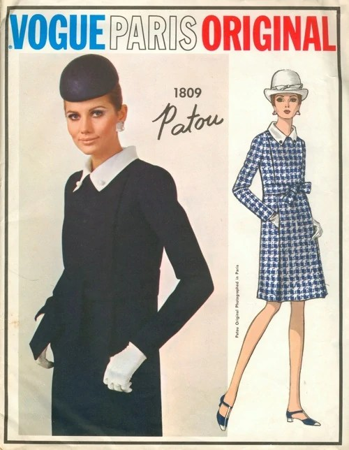 Maud Adams models on the cover of Vogue 1809 by Patou