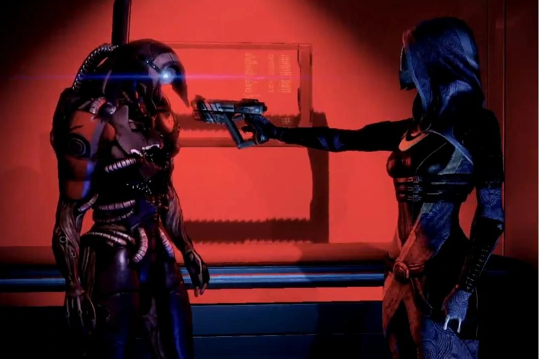 Mass Effect 2 Tali versus Legion geth