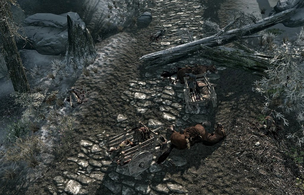 Image result for skyrim ambushed caravan
