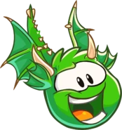 Green Puffle Dragon