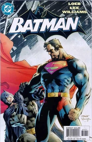I HATE that this is the only image I can find of this battle because Superman never gets a shot in on Batman in this battle.