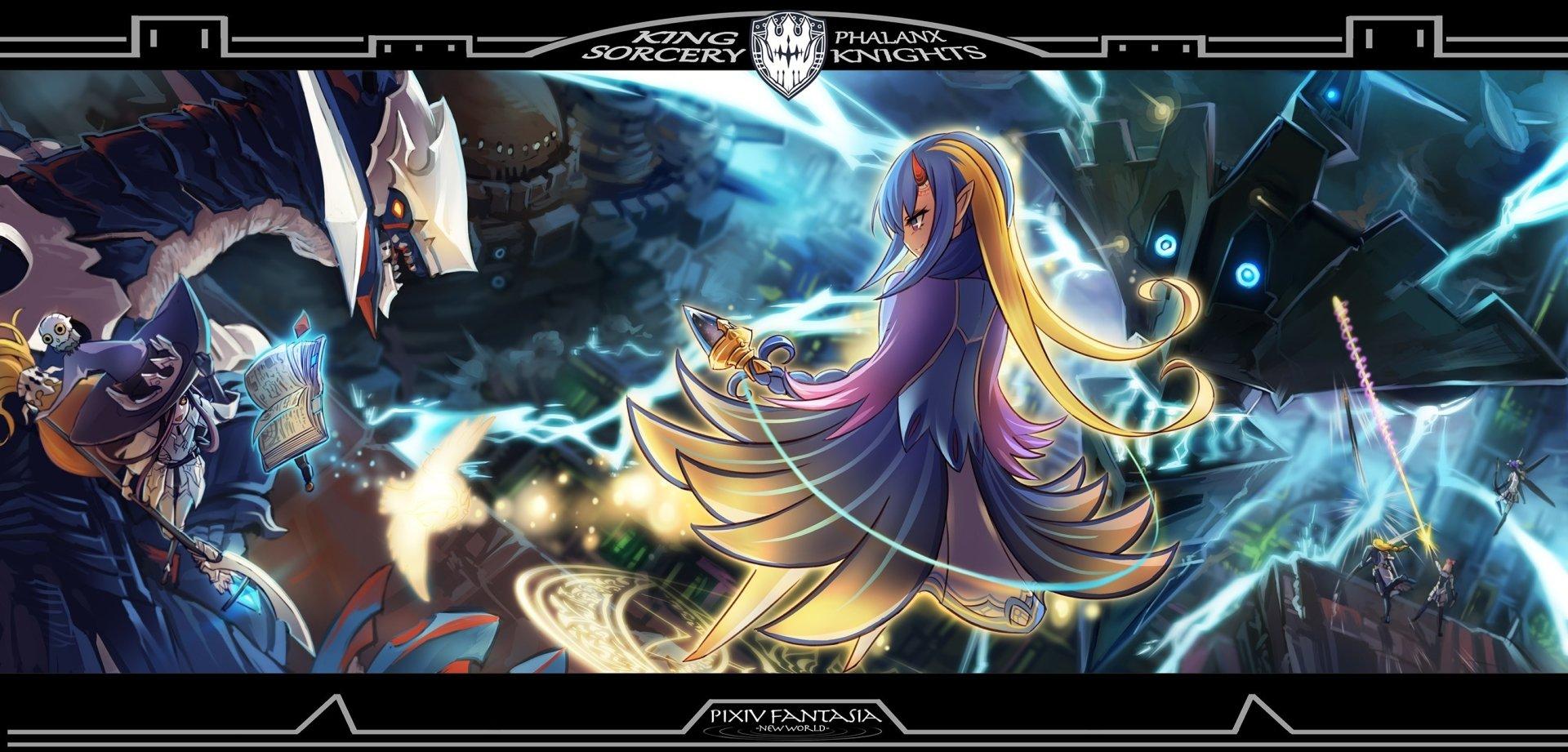 Pixiv Fantasia: New World 高清壁紙   桌面背景   2667x1280   ID:561499 - Wallpaper Abyss