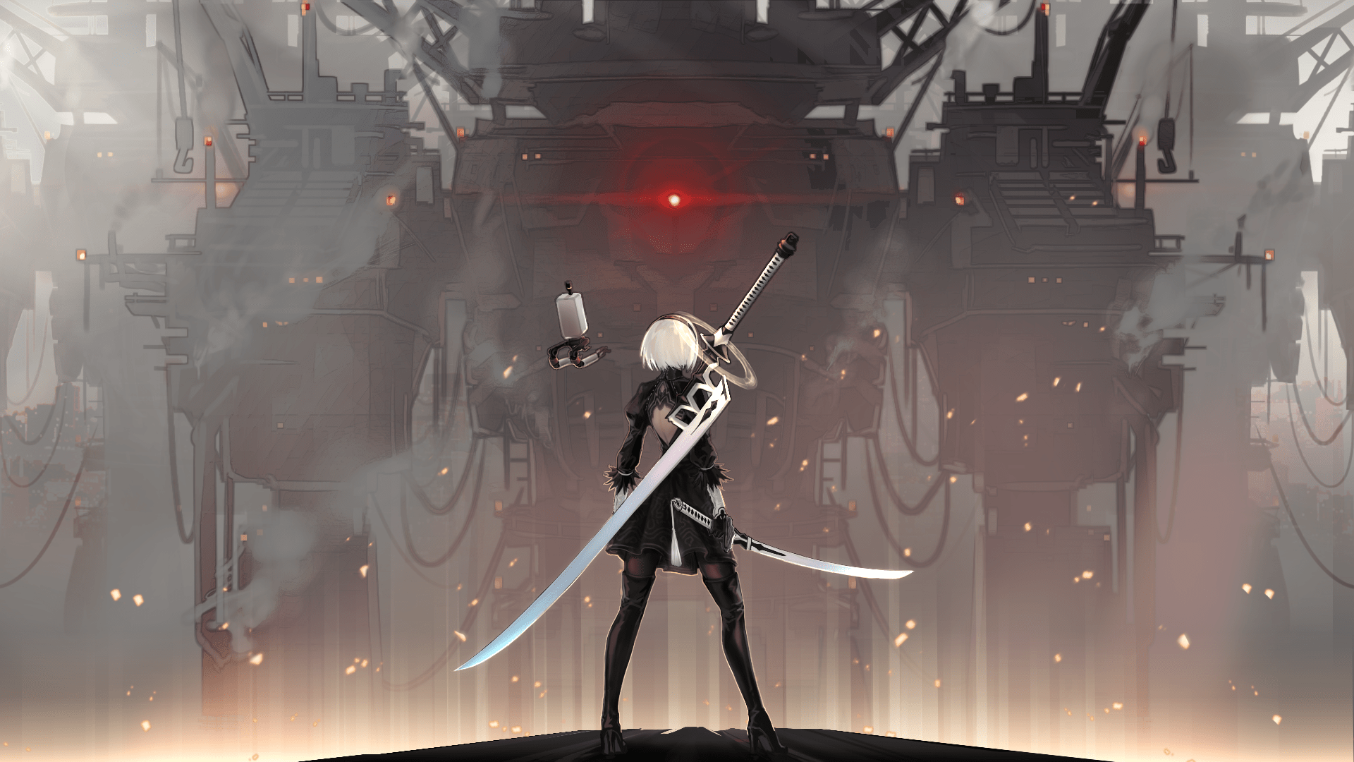 110 nier: automata hd wallpapers | backgrounds - wallpaper abyss