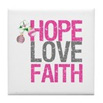 HopeLoveFaith X-Mas Tile Coaster