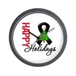 Black Ribbon Christmas Wall Clock