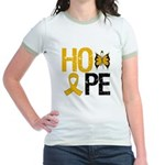 Appendix Cancer Hope Jr. Ringer T-Shirt