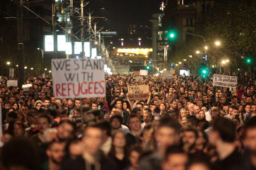 protest, foto Dado Đilas, Dragana Udovičić
