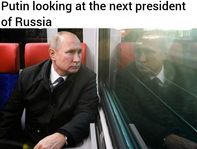 Putin looking at the next president of Russia