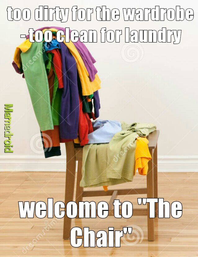 Image result for laundry chair meme