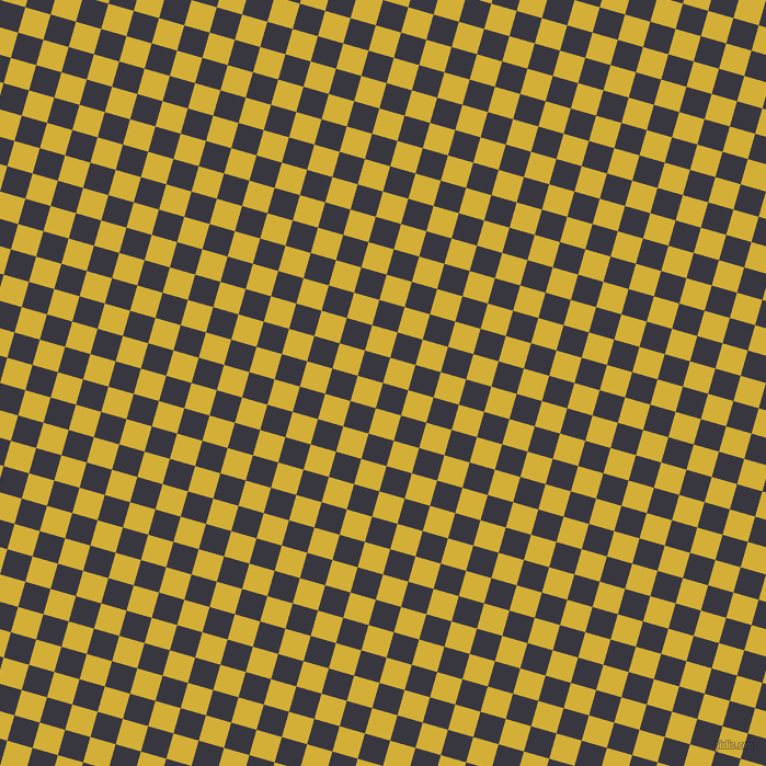 Black Marlin And Metallic Gold Checkers Chequered