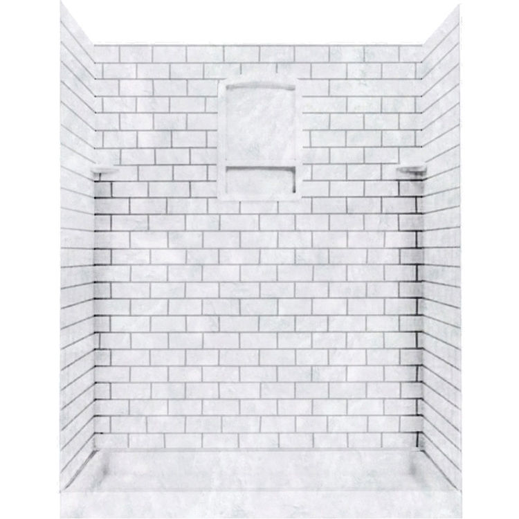 swanstone stmk72 3636 130 subway tile shower wall kit 36x36x72 ice