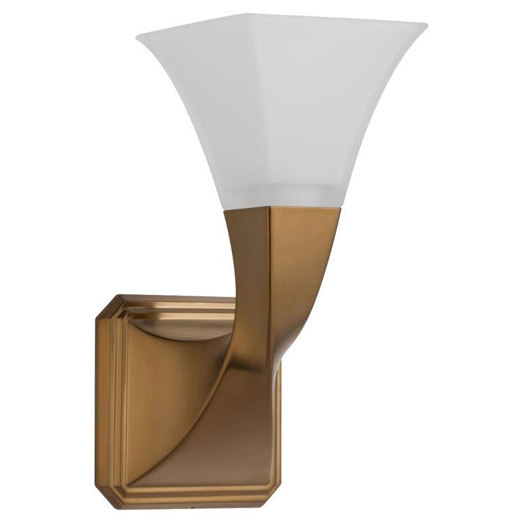 Brizo 697030-BZ Virage Brushed-Bronze Single-Sconce Bath Light on Bathroom Sconce Lights Brushed Bronze id=95899