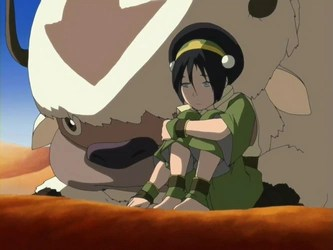 Aang and Toph from Avatar: The Last Airbender