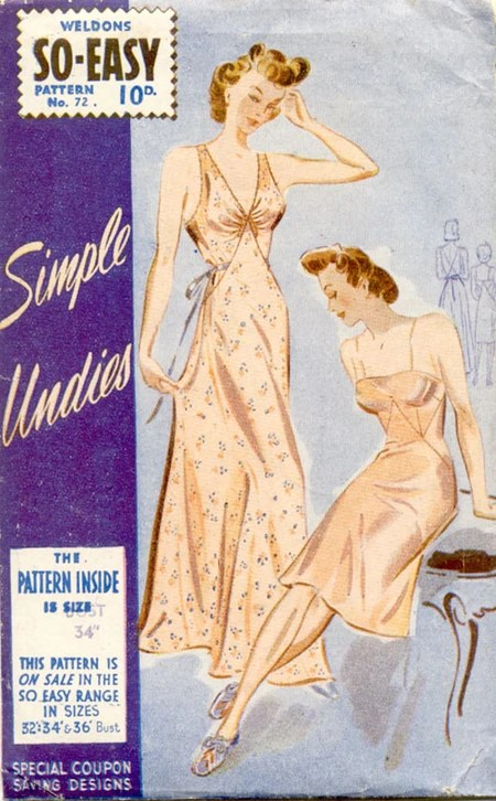 Weldons So-Easy 72 (c. 1942) Simple undies