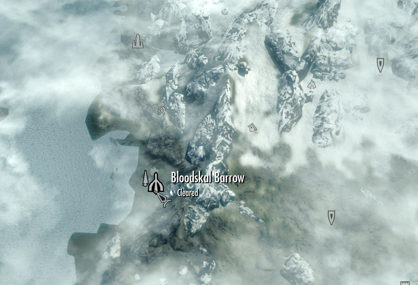 Bloodskal Barrow Location Skyrim Map