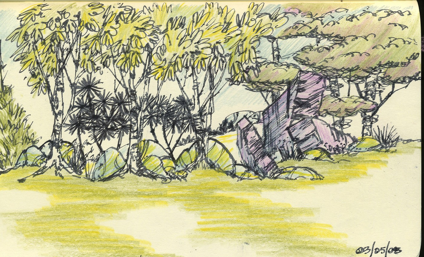 colored-pencil, landscape-rendering