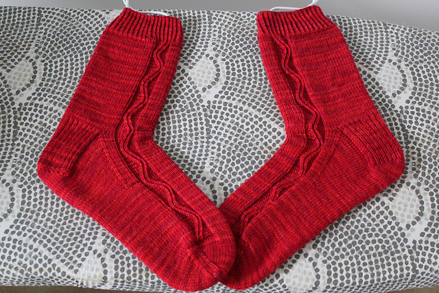 Zigzagular Socks in Stroll Tonal Gypsy
