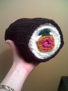 Sushi Roll scarf to crochet free pattern