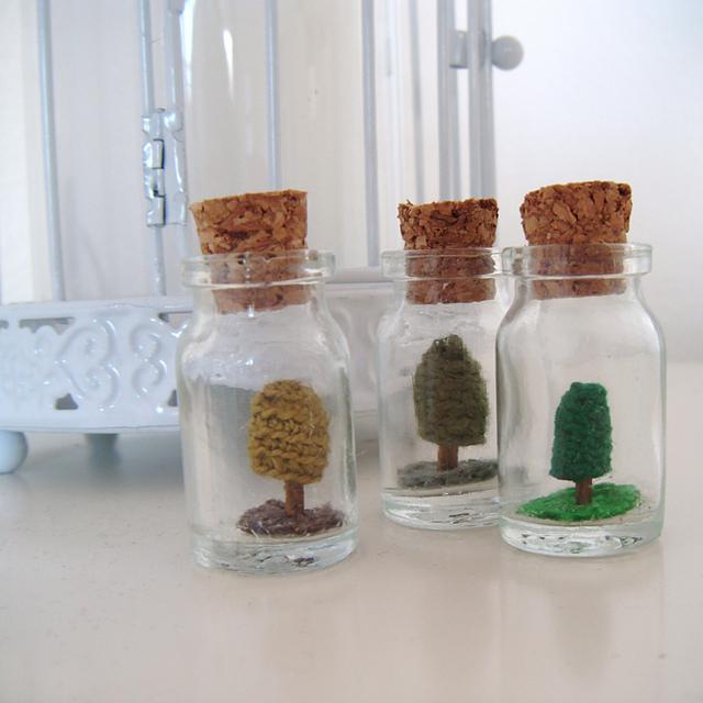 A La Sascha | FREE Crochet Pattern Tree in a Bottle