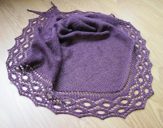 Holey Moley shawl