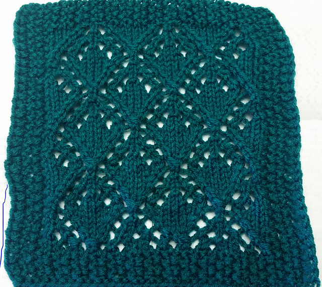 Openworked Diamonds Knit Square