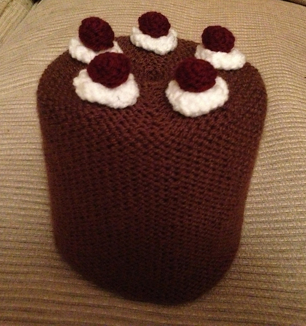 Black forest gateaux toilet roll cover