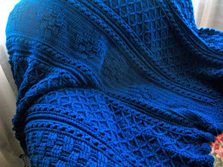 Ravelry Basketweave Diamond Throw Pattern By Bonnie Barker