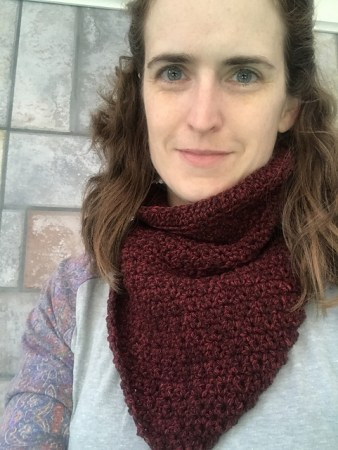 Nutmegknitter's Bandito Cowl in MM Tweed Pumice