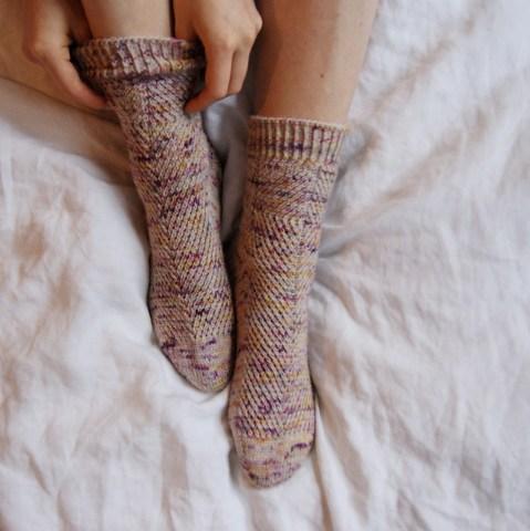 Masho Potato Socks af Verena Cohrs / @thewoolclub