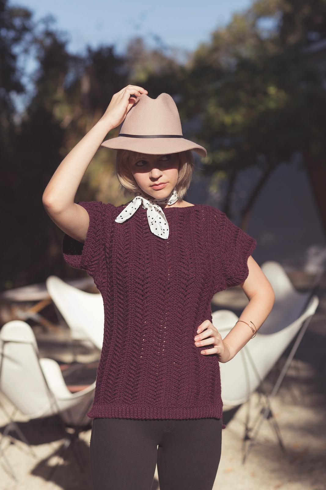 Eastlake Sweater from Modern Bohemian Crochet