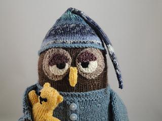 Night owl soft toy knitting pattern