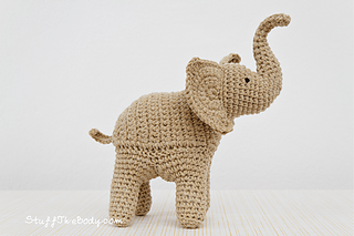 Crocheted elephant toy