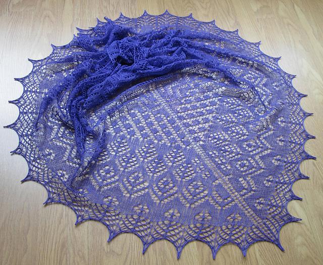 Purple Betty shawl