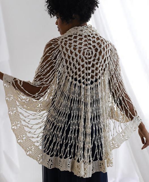 Orchid Circular Shawl - crochet pattern
