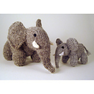 Knitted elephant pattern.