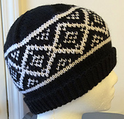 Spotted Diamonds hat