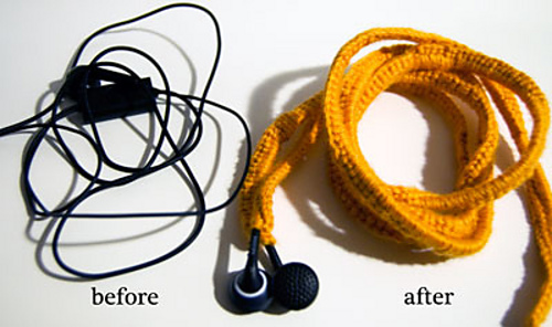 Ear bud covers to stop tangling - free crochet pattern