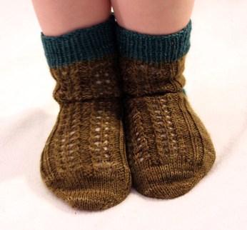 Toddler's feet.
