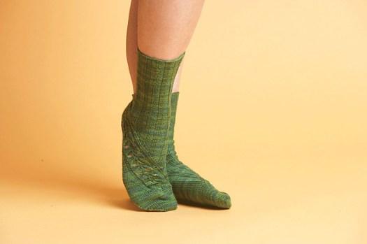Green Kai-Mei Knit Sock patterns