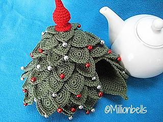 Ravelry Christmas Tree Teacosy Tea Cozy Pattern By