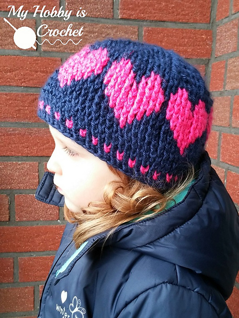 FREE Crochet Pattern • A Hat With Love on Ravelry #crochet #valentinesday
