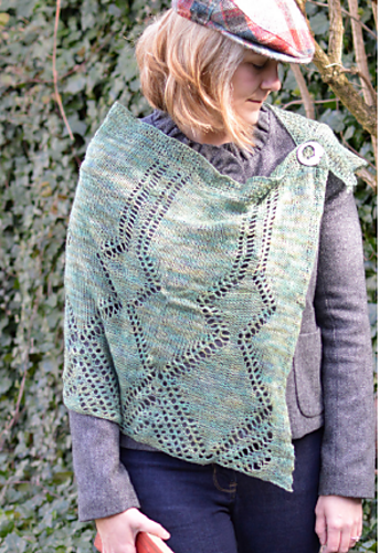The Beaker Folk Shawl by Smudge Yarns from These Islands