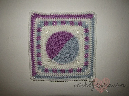Half & Half Crochet Square