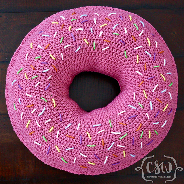 ravelry donut pillow pattern by