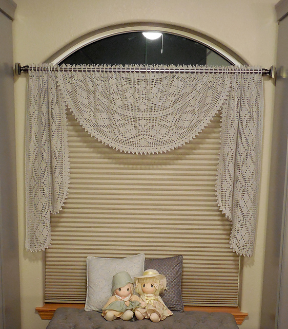 stunning swag valance pattern by kathryn a clark
