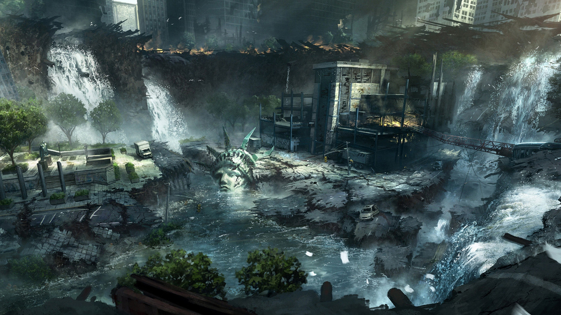 Post Apocalyptic Full HD Wallpaper And Background Image