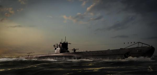 U-boat surfaced HD Wallpaper | Hintergrund | 2500x1196 ...