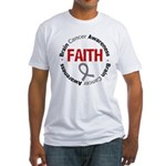 BrainCancerFaith Fitted T-Shirt